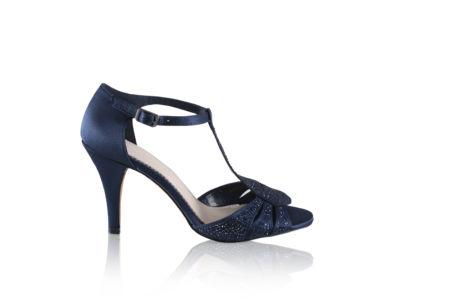 Chaussures perlées bleu marine